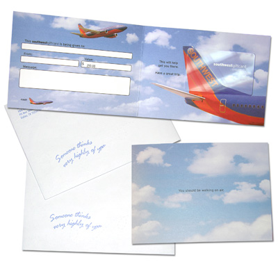 SOUTHWEST AIRLINES<sup>&reg;</sup> $250 Gift Card - It's time to plan that vacation you've been wanting!  With this gift card, you can take $250 off of your next trip on Southwest Airlines.